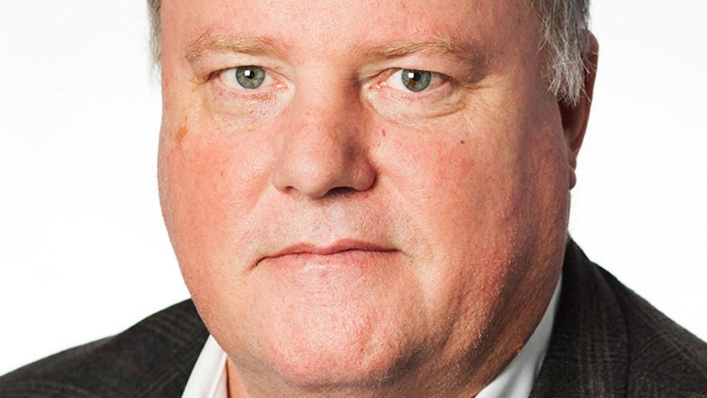 Pressbild på Thed Adelswärd som är chefsrådman vid Lunds tingsrätt.