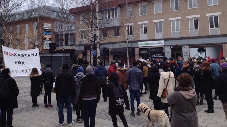 Demonstration för asylrätt