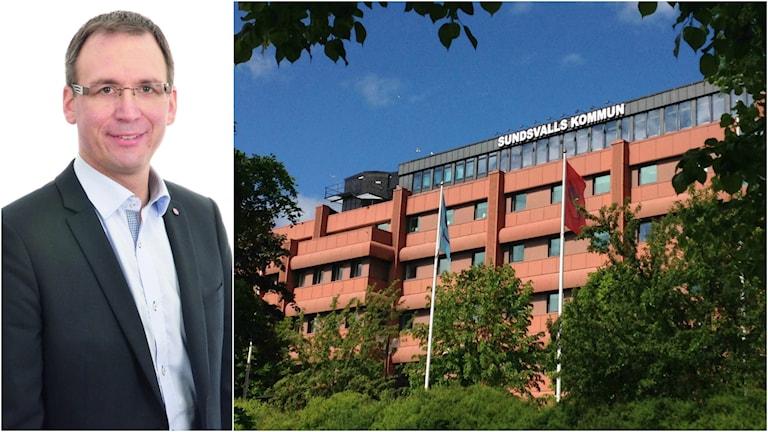 Peder Björk och Sundsvalls kommunhus