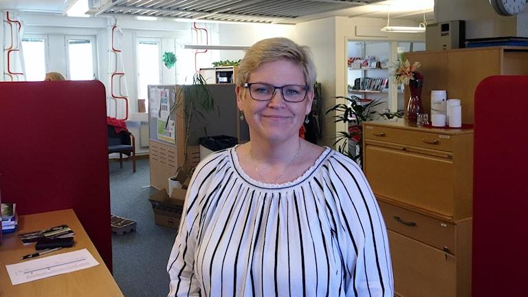 Malin Andersson är Kommunals klubbordförande för äldreomsorgen i Skellefteå.