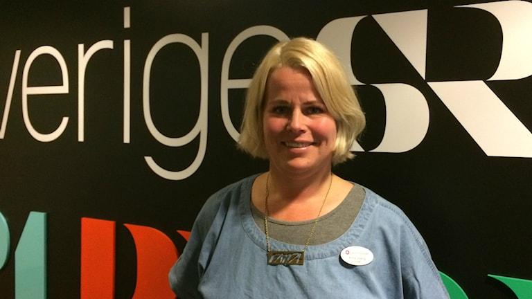 Anna Olskog, lärare på Hedlundaskolan i Umeå och vice ordförande i Lärarförbundets lokalavdelning Foto: Lillemor Strömberg/Sveriges Radio.