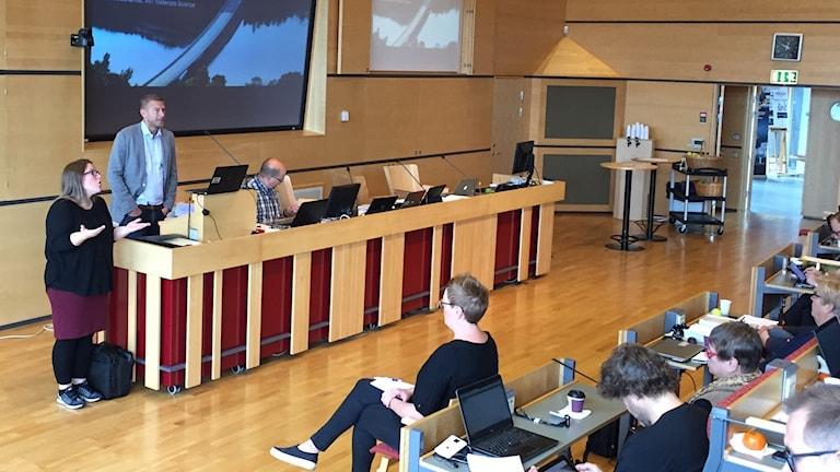 Northvolts vd Peter Carlsson talar i Skellefteå