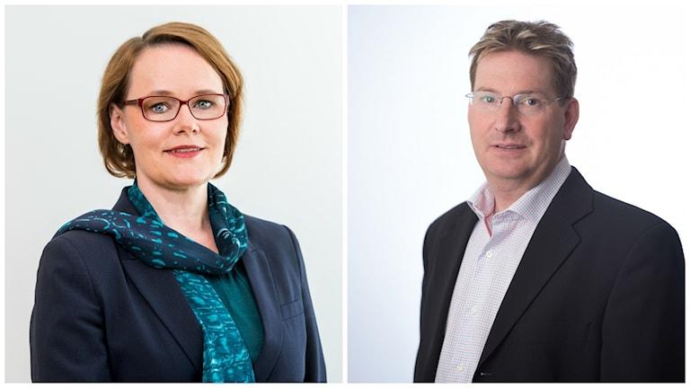 Anna-Karin Jatko, generaldirektör på Exportkreditnämnden och Fredrik Lundberg VD på Vimek i Vindeln.