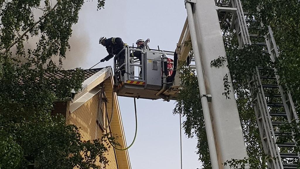 Brand i flerfamiljshus på Tomtebo i Umeå