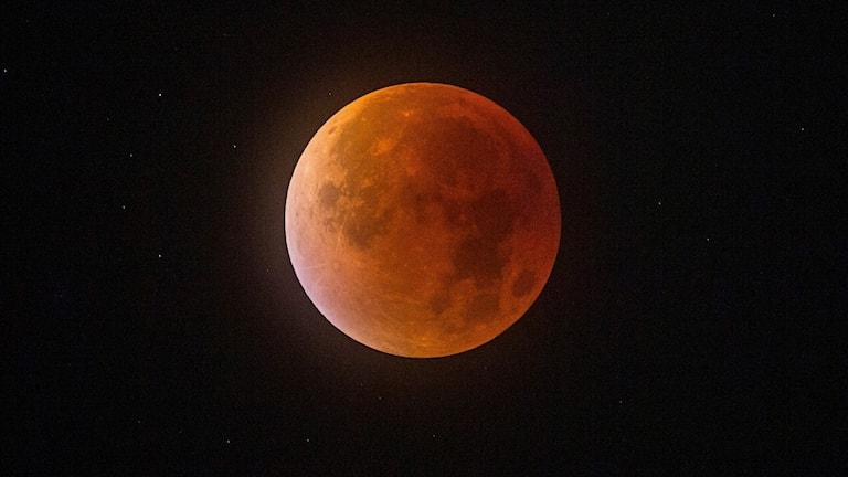 en röd måne