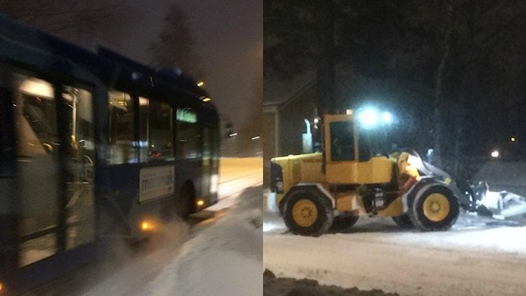 Snöoväder. Foto: Peter Öberg, Sveriges Radio.
