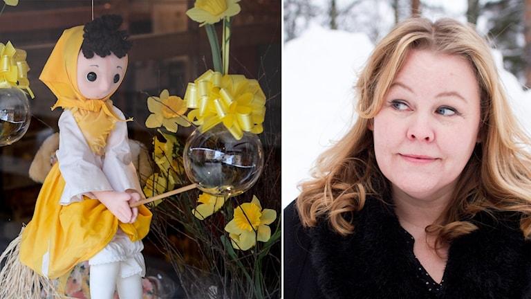 Kärringen lever och har kul, speciellt till påsk. Erica Dahlgren är spanare i P4 Västerbotten.