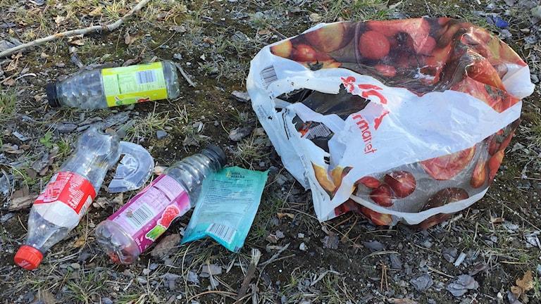 Nedskräpning med plast