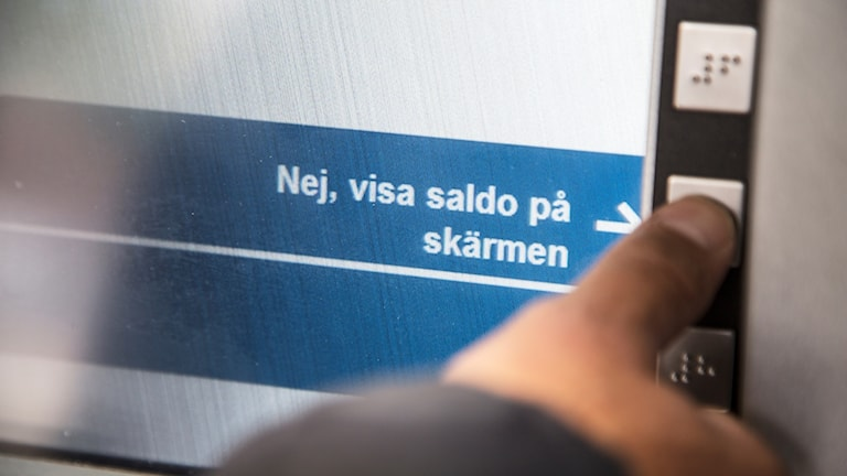 Bankomat. Foto: Martina Holmberg / TT