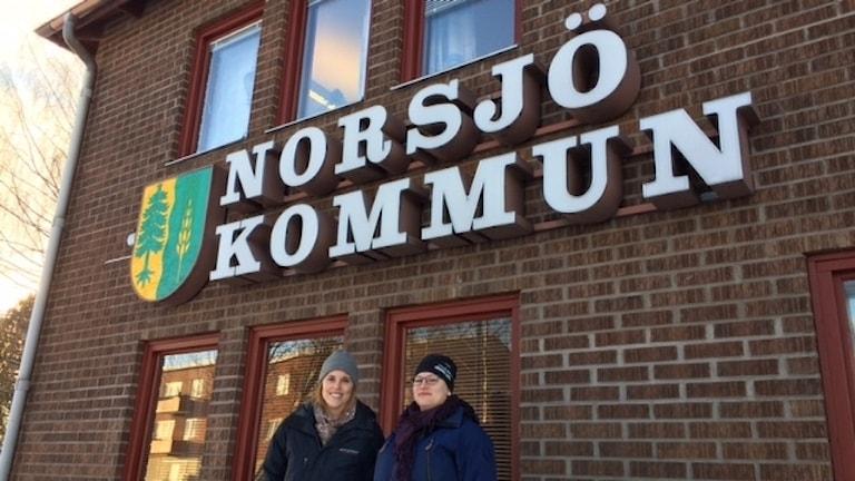 Emma Larsson och Ida Lundström.