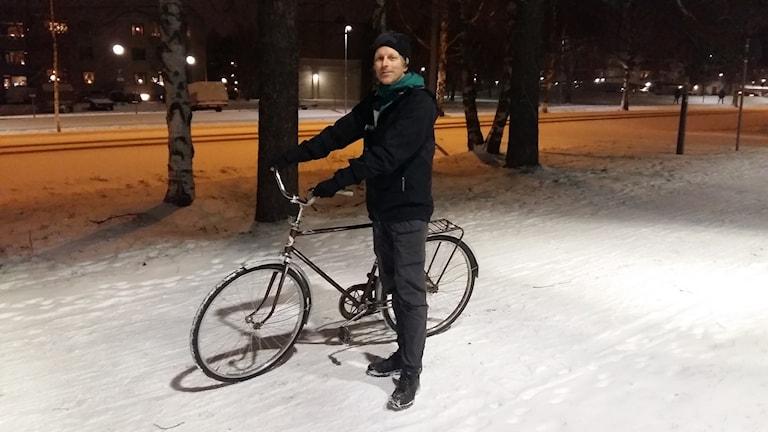 Owen Laws, cykelansvarig för Naturskyddsföreningen och arbetsgruppen Cykelstaden i Umeå