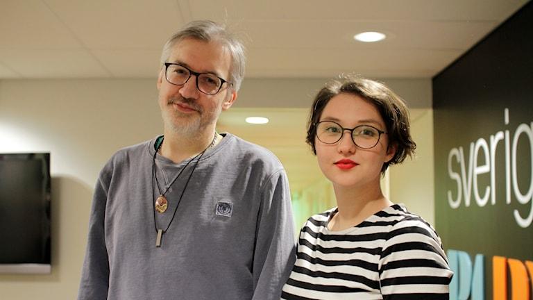 Ola Nordebo politisk chefredaktör VK och Linda Westerlind, politisk chefredaktör Folkbladet