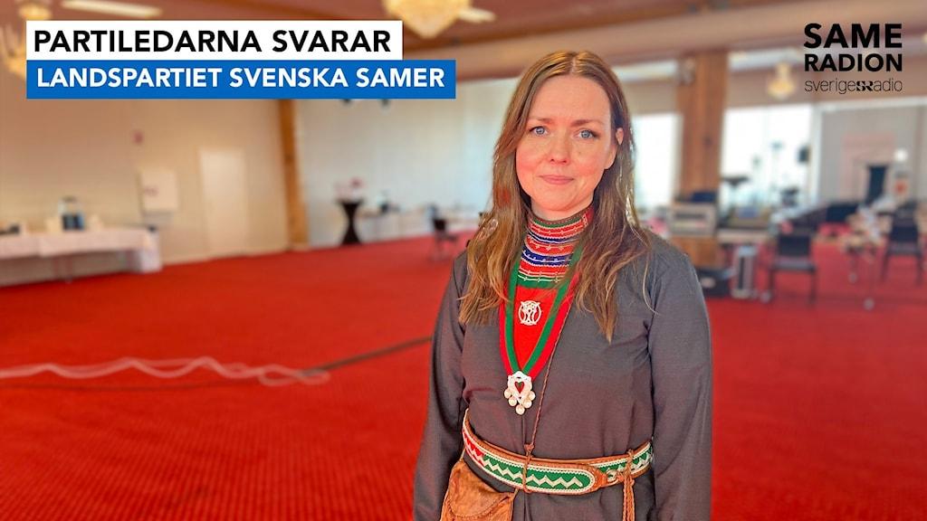 Partiledarna svarar inför sametingsvalet 2021. Landspartiet svenska samer, partiledare Marie Persson Njajta