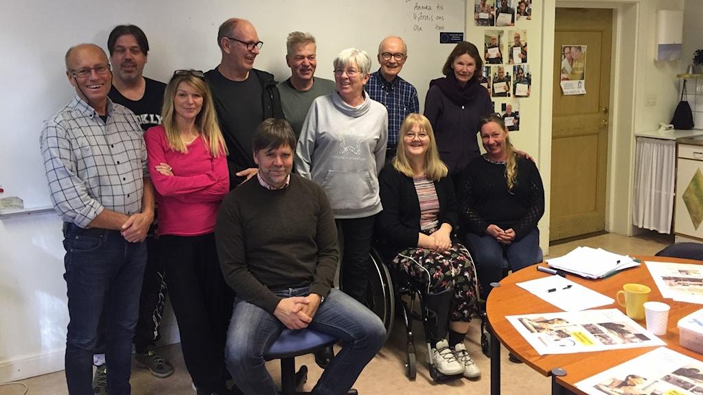 Lisa Larsson och kursdeltagare på Edelvik