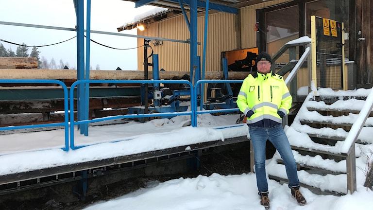Johan Lundberg, platschef i Agnäs