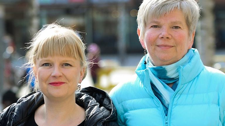 Ulrika Edman och Elisabeth Zachrisson. Båda (V) i Umeå.