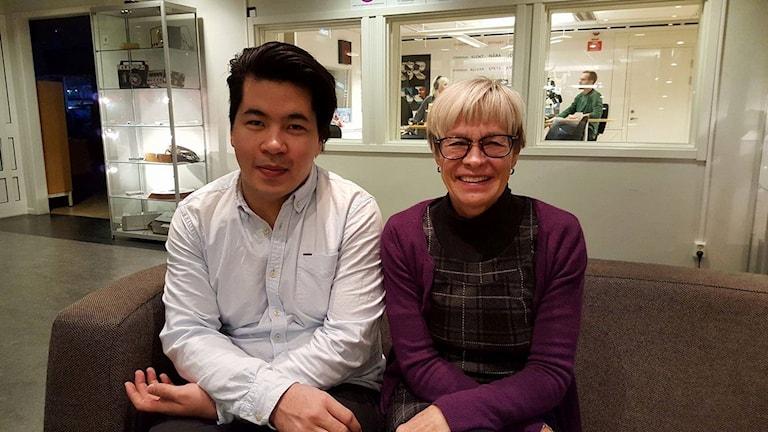 Davoud Mohamadi och Ingrid Westerberg Eriksson från IM i Umeå