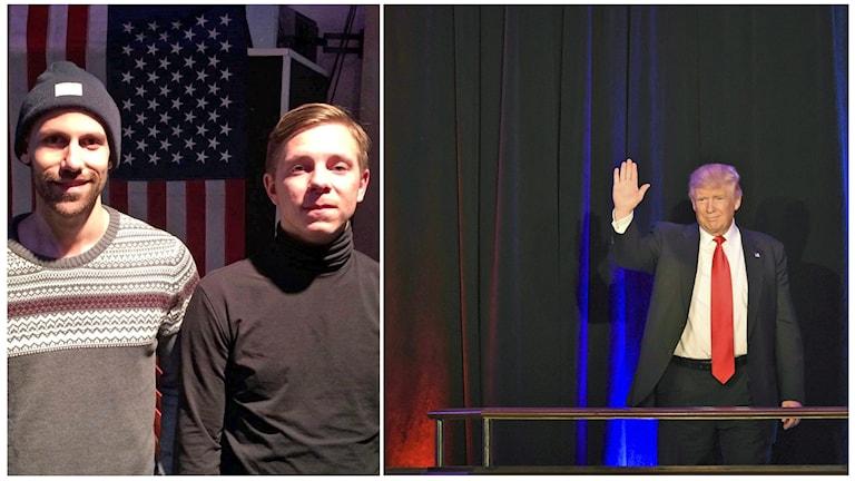 Ken Trolley och Johan Olofsson, och Donald Trump.