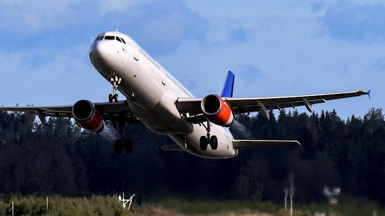 Flygplan lyfter
