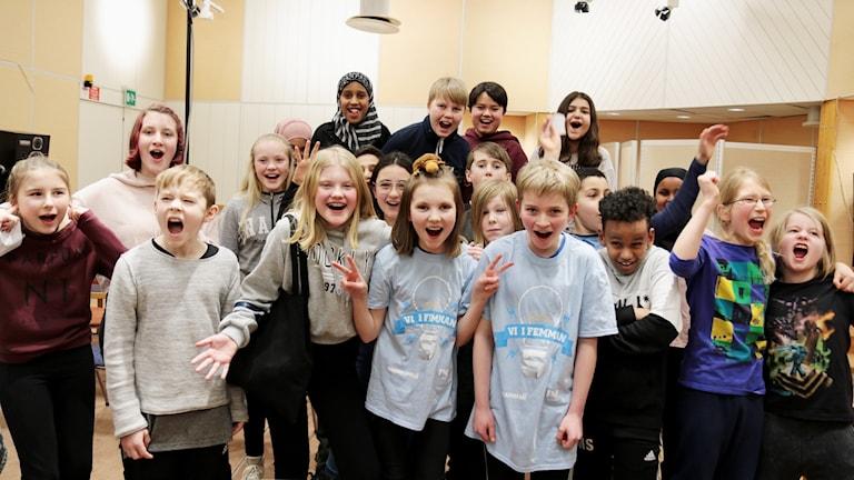 Sofiehemsskolan vinnare av första semifinalen i Vi i femman Västerbotten bjuder på ett segervrål