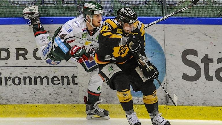 Pontus Widerström i Frölundas hockeymundering mot en Skellefteåaik spelare