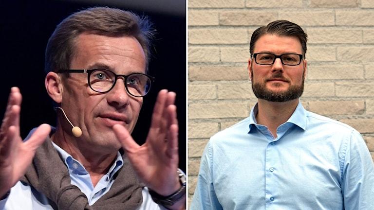 Moderaternas ekonomipolitiske talesperson Ulf Kristersson och  riksdagsledamoten Edward Riedl, andre vice partiordförande i Västerbotten