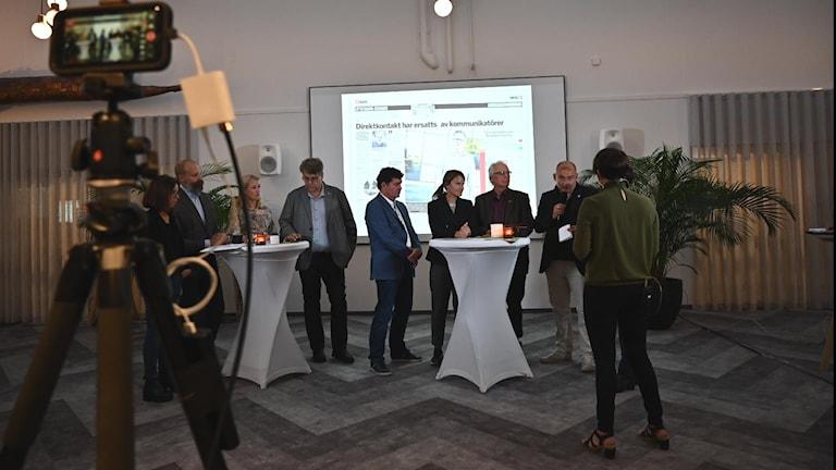 Politiker och tjänstemän på Publicistklubbens debatt i Umeå