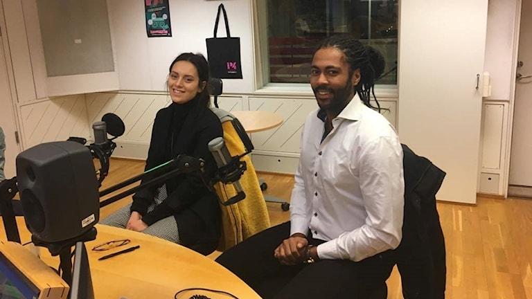 Lars Fagernäs och Maja Samuelsson, båda går andra året på musikalakademin.