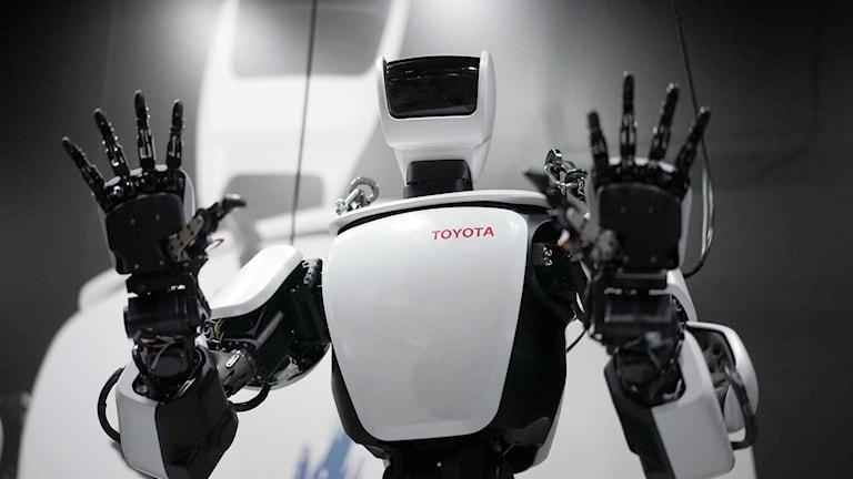 Robot håller upp hädnerna