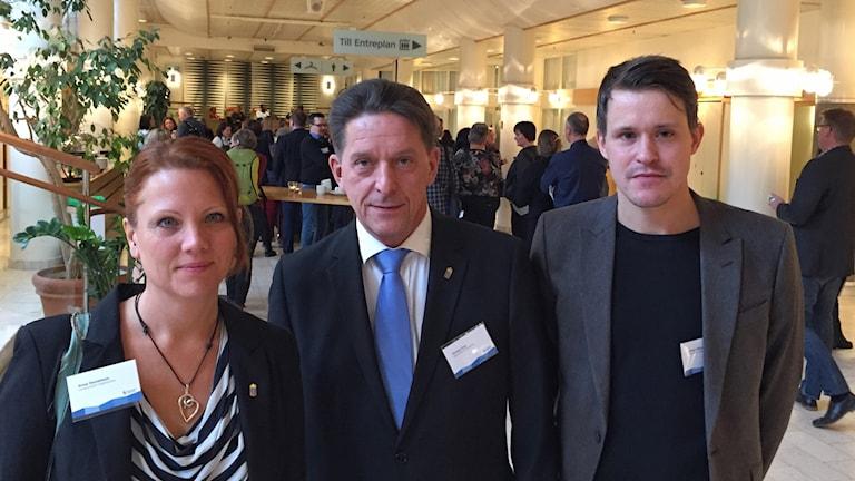 Anna Danielsson, Västerbottens länsstyrelse, Torsten Fors, Norrbottens länsstyrelse och föreläsaren Johan Vikström, Arbetsförmedlingen.