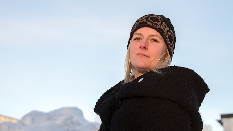Elena Lindholm, genusforskare på Umeå universitet utomhus