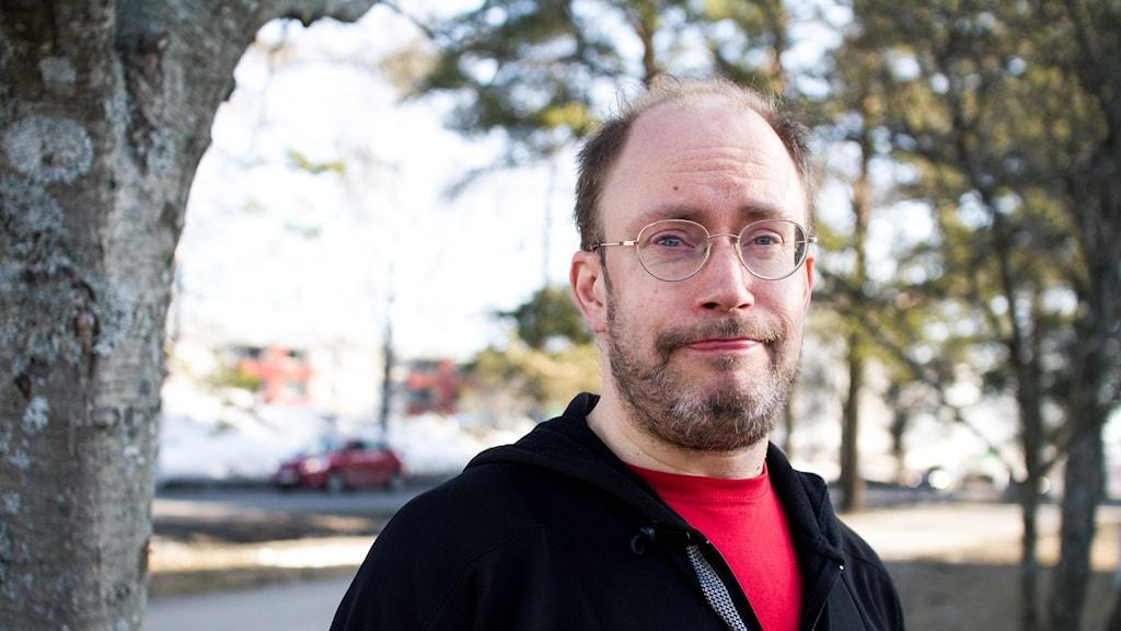 Mattias Smeds från föreningen Attention i Umeå