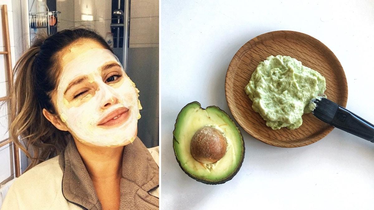 Tone Näslund tipsar om en ansiktsmask du själv kan göra av avokado foto Tove Näslund