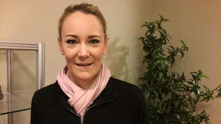 Amanda Scott, geolog i Malå.