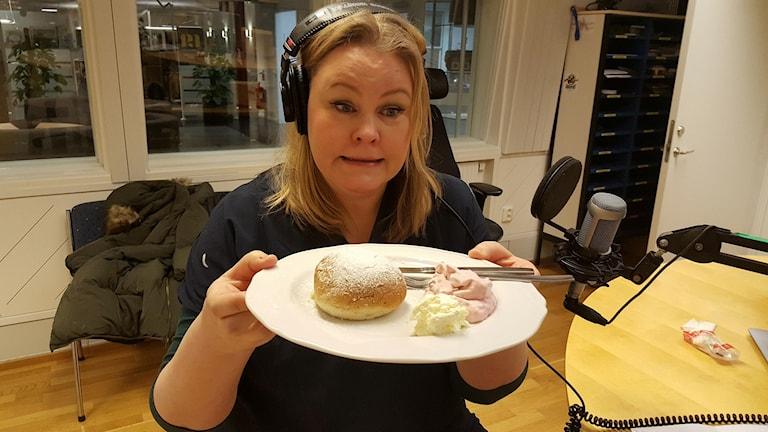 Erica Dahlgren med paltsemlan