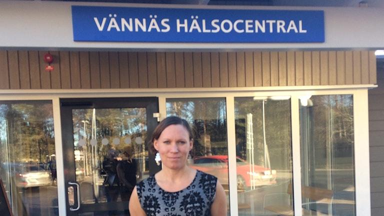 Karolina Olsson, avdelningschef för hälsocentralen.