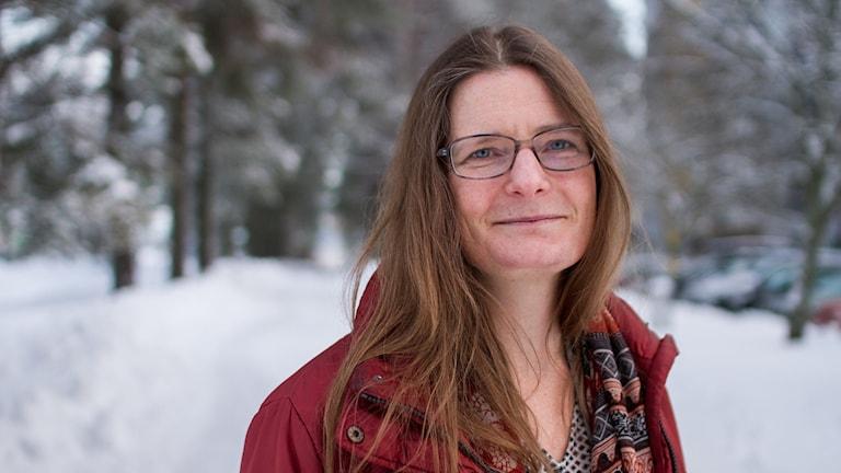 Elisabeth Kristoffersson utomhus vintertid