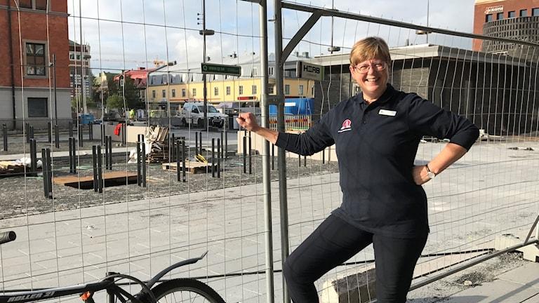 Eva Gyllengam Rådhustorget under byggnation