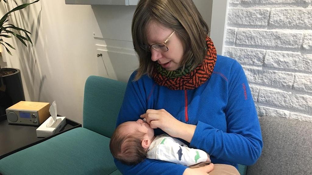 Malin Nielsen från Umeå är en av dom som blivit självstående mamma på assisterad väg