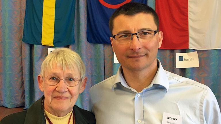 Solveig Holmner och Wojtek Kuszyk