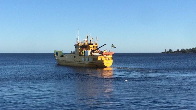 Sjöräddningsövning vid Holmön. Foto: Sjöfartsverket