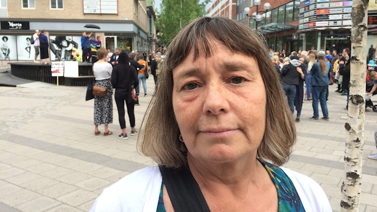 Umebon Annika Herrström kom för att lyssna.
