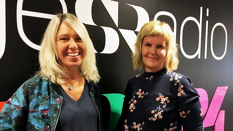 Anna Axelsson, Programproducent på Umeå smakfestival och Anna-Lena Fomin, kund och kommunikationschef på Vakin i radiohuset