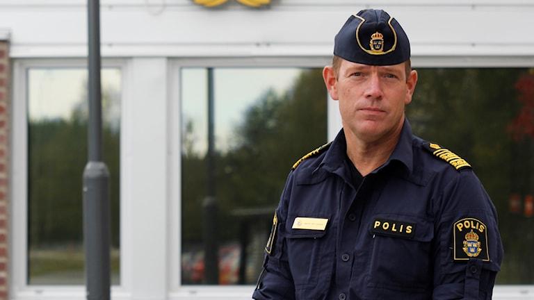 Micael Säll Lindahl, biträdande polisområdeschef.