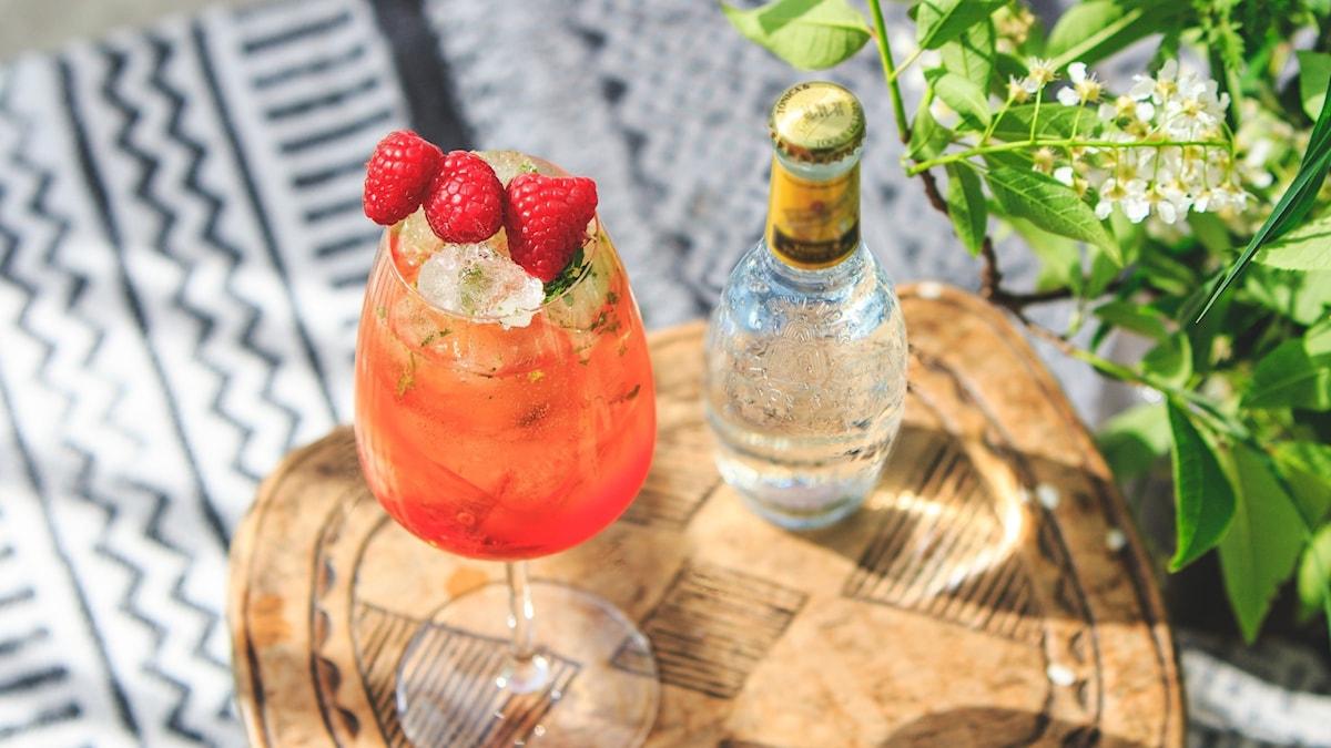 Bild på drinken som vann tävlingen sommardrink 2020. Foto: Henrik Söderström/Privat.