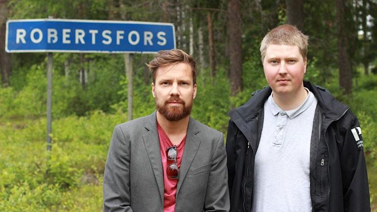 Martin Sundelius och Hjalmar Åman i Robertsfors