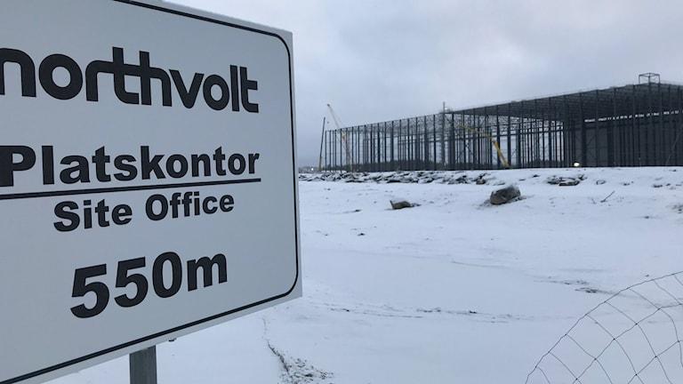 Northvolt i Skellefteå byggs