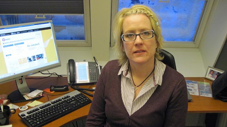 Harriet Söder, affärsutvecklingschef på Länstrafiken i Västerbotten Foto: Edward Karp / SR