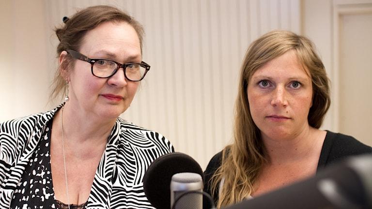 Annelie Bränström Öhman och Josefin Olsson