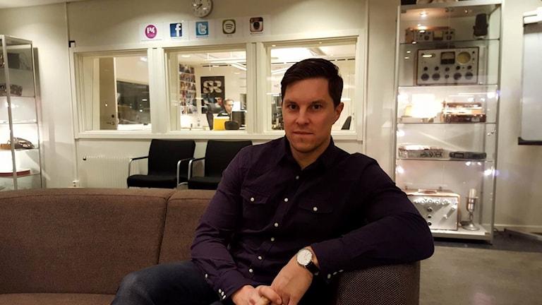 Jonas Nordin, regionchef för Ung företagsamhet i Västerbotten.